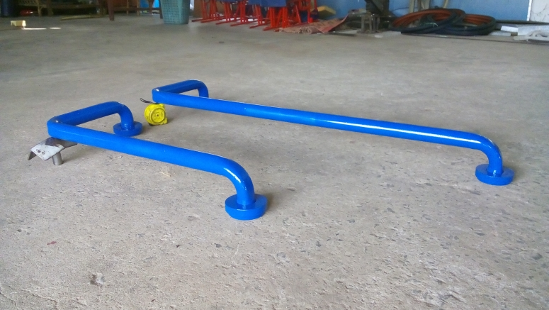 Fixed and adjustable handrails