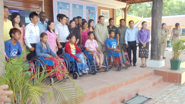 Wheelchairs and assistive devices Distribution ceremony supported by LDSC at Prah Vihear province.